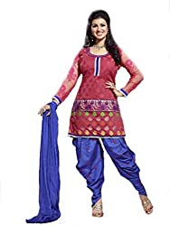 Om Creation peach Embroidered cotton Salwar Suit HS70