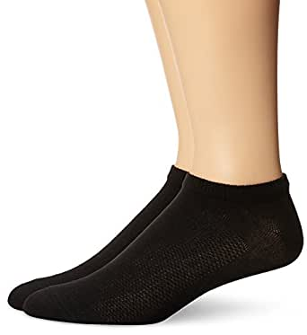 hanes s 8 pack x temp arch support liner socks black