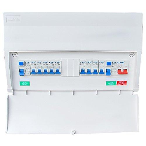 Dual RCD Consumer Unit 14 Module 8 ways 17th Edition Board c/w 6 MCBs SLC1463TR-A