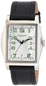 Stuhrling Original Midsize 121A.32152 Classic Ascot Basilica II Swiss Quartz Date Black Leather Watch