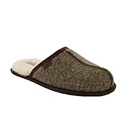 UGG Australia Men\'s Scuff Tweed Sheepskin Slipper Stout 8 M US