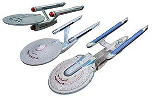 Star Trek Enterprise AMT 660 1:2500 (3er Set: Ncc1701, 1701a, 1701b)
