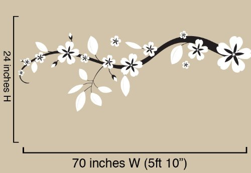 Vinyl Wall Art Decal Sticker Asian Blossom Flower Floral 70