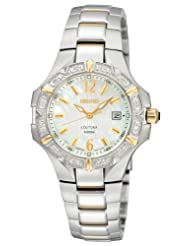 Seiko Women's SXDC34 Diamond Two-Tone Coutura White Dial Watch