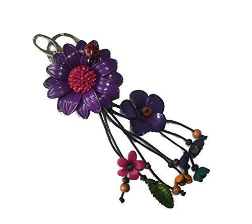 bella-pazzo-purple-handmade-sunflower-flower-leather-keychain-key-ring-clasp-bag-charm-handbag-purse