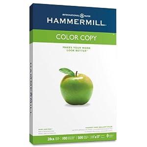 Hammermill Color Copy Paper, 28lb, 11 x 17 Inch, 100 Bright,  500 Sheets/1 ream (102541)