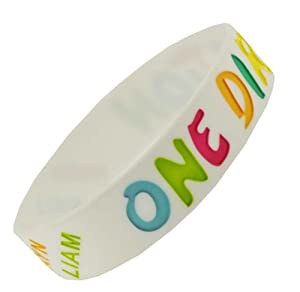 White So In Love With One Direction Wristband So In Love With One Direction Bracelet 1 Wide 8 by Hinky Imports