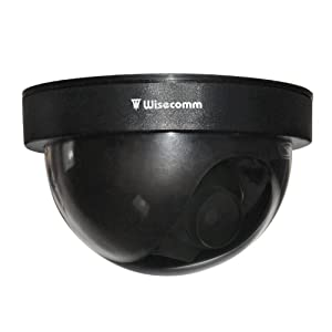 Wisecomm DU513 Dome Simulated Security Camera - Small (Black)