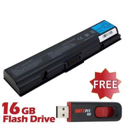 BattPit Notebook Akku für Toshiba Satellite L500-208 (4400 mah) bei kostenlosem 16GB Battpit USB-Stick