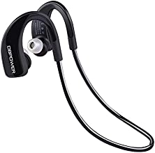 DBPOWER® BE-900 HIFI Bluetooth 4.0 Stereo Headset Kopfhörer, Wireless Sport Neckband Freisprecheinrichtungen Earbuds Kopfhörer mit Rauschunterdrückung, Echo Cancellation für iPhone, iPad, iPod, MP3 Player, Tablet-PC, Notebook, Laptop, Smartphones usw. Bluetooth Geräte (Unterstützung A2DP 1.2, AVRCP1.4, HSP1.2, HFP1.8, Bass, 2-in-1 Funktion)