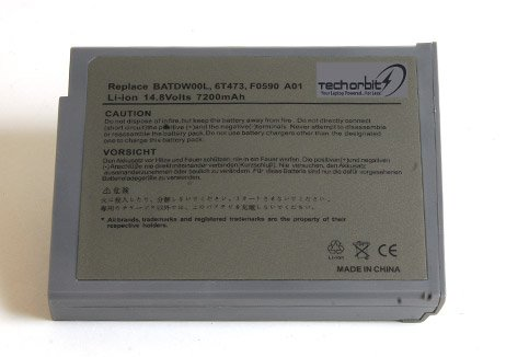 Techorbits� replacement battery for Dell Inspiron 1100 Series 1150 5100 Series 5150 5160 Latitude 100L,fits 310-5205 310-5206 312-0079 312-0296 451-10117 451-10183 6T473 7T670 8Y849 9T686 J2328 BATDW00L F0590A01 12 stall