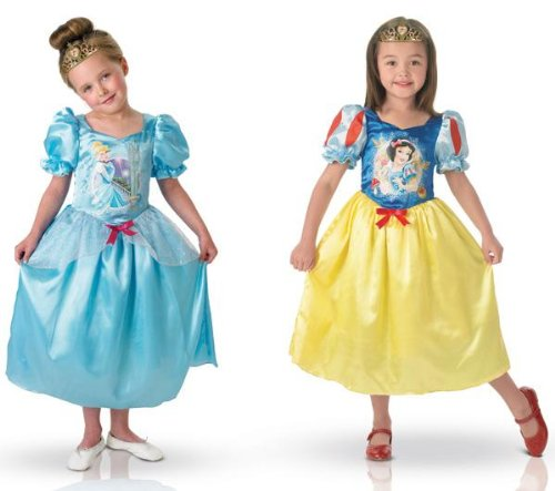 Reversible Cinderella & Snow White Kids Costume - Small