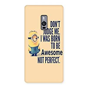 Delighted Quote Minio Yel Back Case Cover for OnePlus Two
