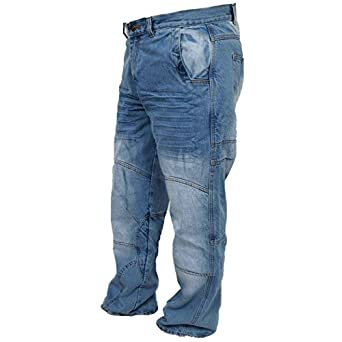 Men's Faded Blue Denim Armours Motorcycle Motorbike Biker Trousers Pants Jeans Reinforced with Aramid Protection Lining