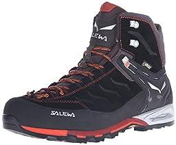 Salewa Men\'s Mountain Trainer Mid GTX Alpine Approach Shoe, Black/Indigo, 8 M US