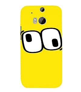 PrintVisa Cartoon Eyes Emotion 3D Hard Polycarbonate Designer Back Case Cover for HTC One M8