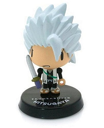 "Toshiro (Angry) ~1.5"" mini-figure with weapon charm (+ ~0.25"" stand) [Bleach Thumbnaillook Series] (Japanese Imported) - 1"