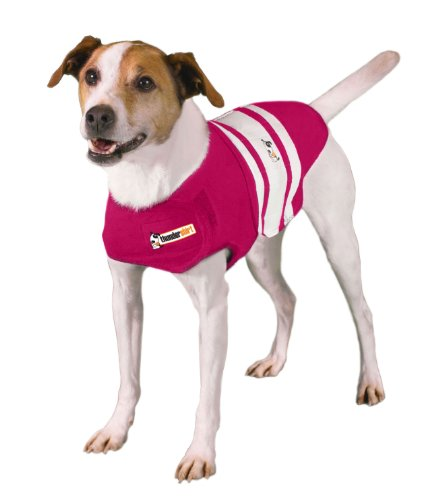 Thundershirt Dog Rugby Shirt - Pink, Small