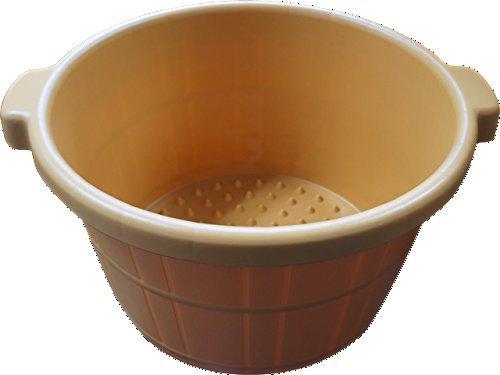 2/pkg Round Plastic Portable Spa Massage Foot Bath Soaking Tub Bucket Cask (Plastic Soaking Tub compare prices)