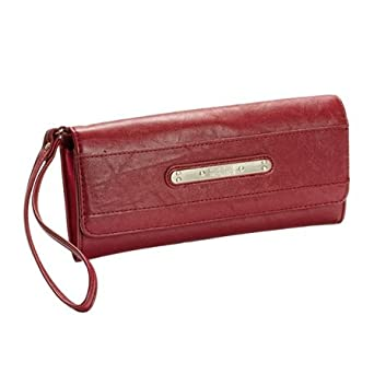 Kenneth Cole Red Longplate Large Wristlet