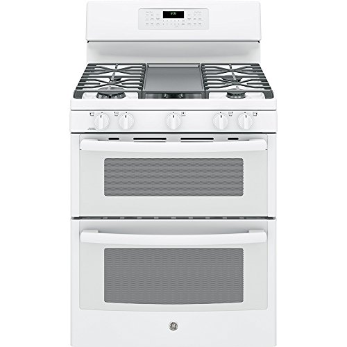 GE-JGB860DEJWW-30-White-Gas-Sealed-Burner-Double-Oven-Range-Convection
