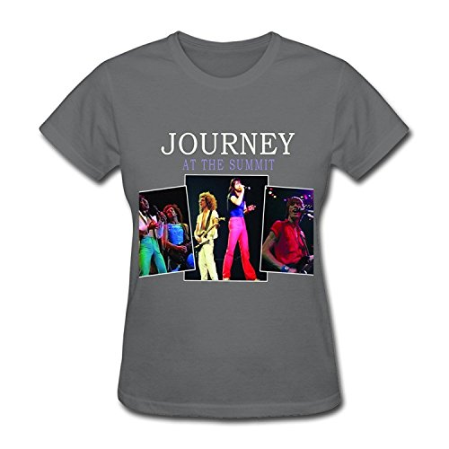 Journey Live Show T Shirts For Women Yellow
