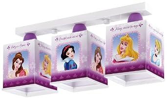 Dalber 63873 Lampadario Disney Princess, a 3 lampade, per bambini ...
