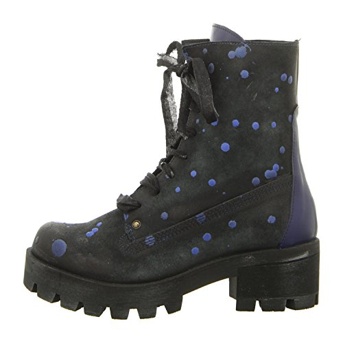 Papucei Anica Blue Dots, Stivali donna, nero (blue dots), 38