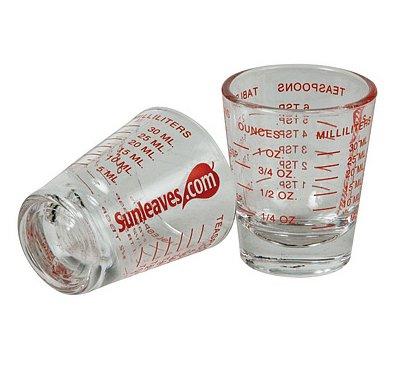 Mini Measure ® Mini Measuring Shot Glass Measures 1oz, 6 Tsp, 2 Tbs, 30ml