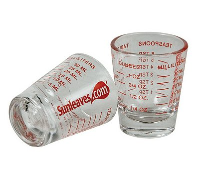 Mini measure mini measuring shot glass measures 1oz 6 for 1 table spoon oz
