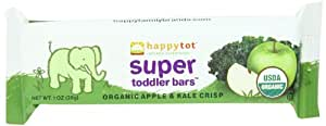 Happy Tot Super Toddler Bars, Apple Kale, 5-Count, 1 Ounce