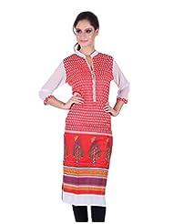 Crystal Women's Cotton Straight Kurti - B014L0AUYA