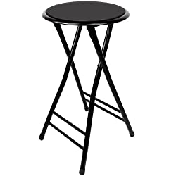 [Best price] Kids&#039 - TG 82-0827 24-Inch Cushioned Folding Stool, Black - toys-games