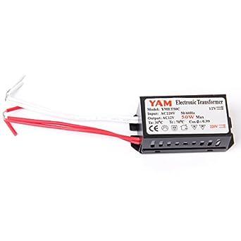 50w transformateur electronique electronique de 220v - Transformateur 220v 12v pour lampe halogene ...