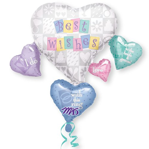 Best Wishes Cluster - Bridal Shower Mylar Balloon front-193706