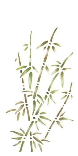 RAYHER - Malschablone, Bambus, 15x30 cm
