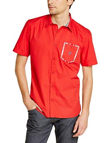 Oxbow Humam - Camicia a maniche corte da uomo, rosso (Rubis), XXL