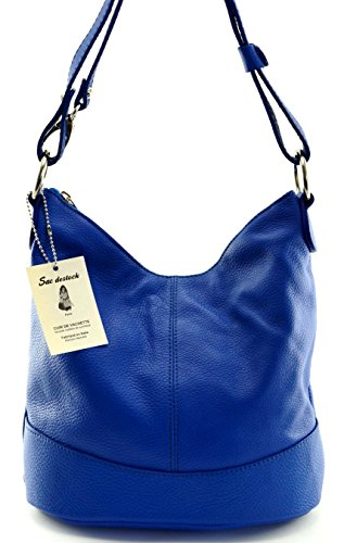 SAC DESTOCK - Women Leather Handbag - Carried HAND & SHOULDER - Grained leather - Ref: OSLO
