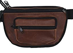 LARGE - DTOM Concealed Carry Fanny Pack BUFFALO / BISON LEATHER-Tan