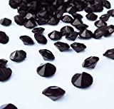 2000 Black Diamond Table Confetti Wedding Bridal Shower Party Decorations 1 Carat 6.5mm Black