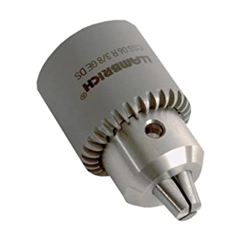 "Llambrich CSS Keyed Stainless Steel Drill Chuck with Passivation Treatment, 5/16""-24 Mount, 0.011""-0.157"" Capacity"