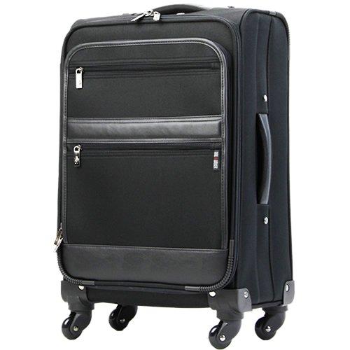 (レジェンドウォーカー)TSAロック・ソフトスーツケース・(約1~3泊)SSサイズ・ソフトキャリーケース[機内持ち込み]T0546 (ブラック)