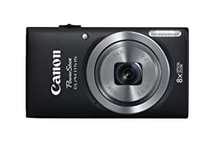 Canon PowerShot Elph 115 IS Black 16.0MP Digital Camera with 8x Optical Zoom with a 2.7-Inch LCD Display (Black)