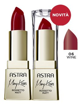 ASTRA Many kisses 06 wine rossetto* - Cosmetici