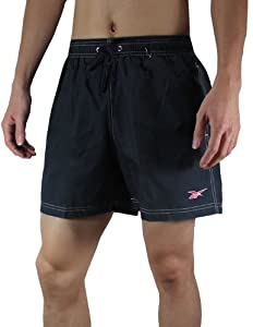 Reebok Mens High Performance Athletic Sports Shorts with Brief Lining S Dark Blue