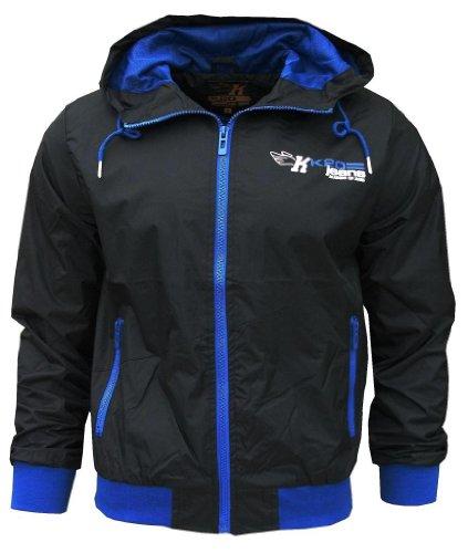 K20 Jeans Orbit Men's Lightweight Sports Rain Wind Jacket Logo black/blue Small