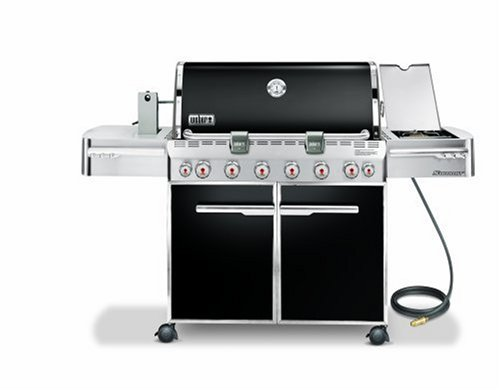 Weber 1881301 Summit E-650 Natural Gas Tuck-Away Rotisserie Grill, Black