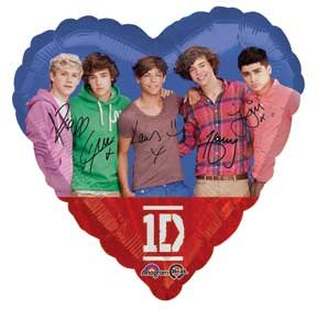 1 Foil One Direction Standard Balloon 2 Sided from Anagram International Inc.