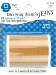 Coats & Clark Extra Strong Jean Thread 70 Yds-Golden