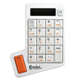 Connectland CL-KBD50005 12-Digit USB Numeric Keypad with Calculator , 21-Key with 8 Hot Keys (White)